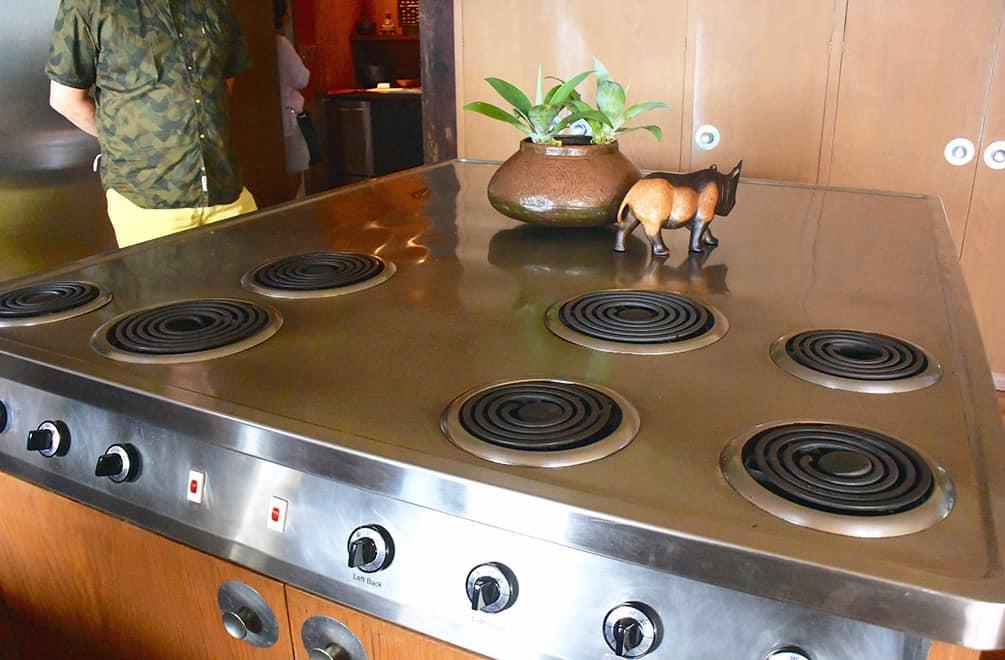 Liljestrand House kitchen range