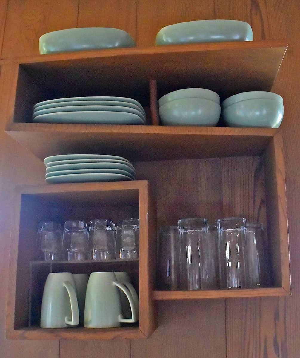 kitchen shelf in the Liljestrand House