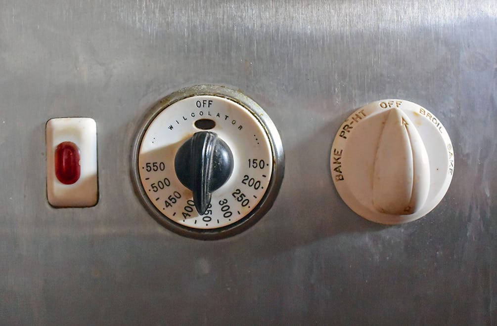 oven dials in the Liljestrand House kitchen