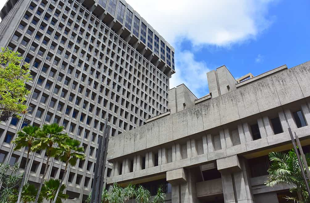 hawaii brutalist buildings, seen on the Honolulu Architectural Walking Tour