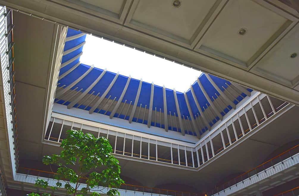 hawaii capitol open roof on the Honolulu Architectural Walking Tour