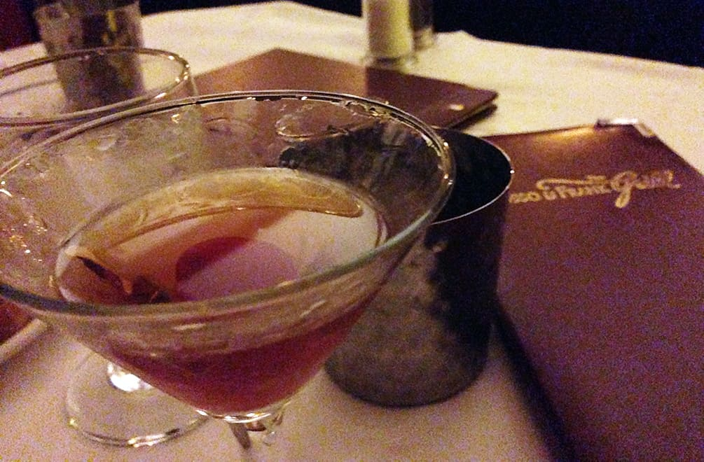 Manhattan at The Musso & Frank Grill