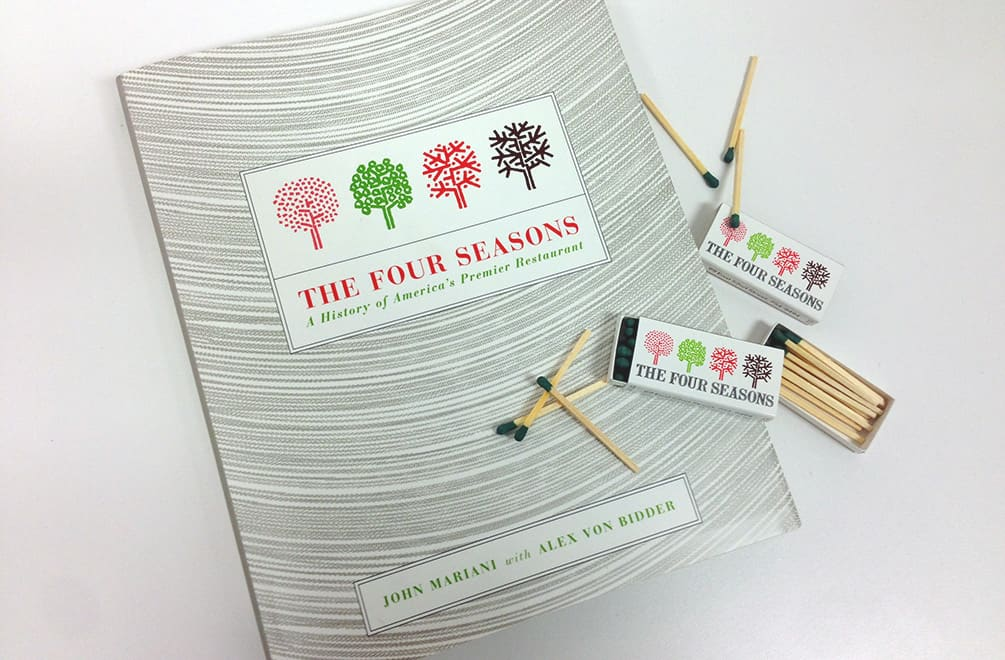 The Four Seasons Book and matches