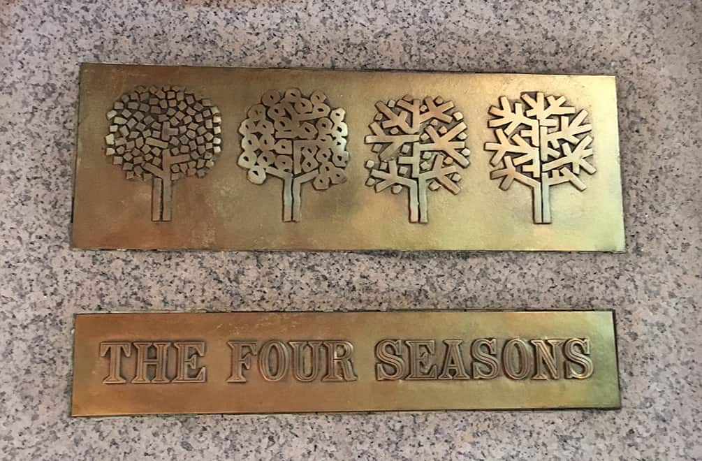 The Four Seasons Restaurant Sign