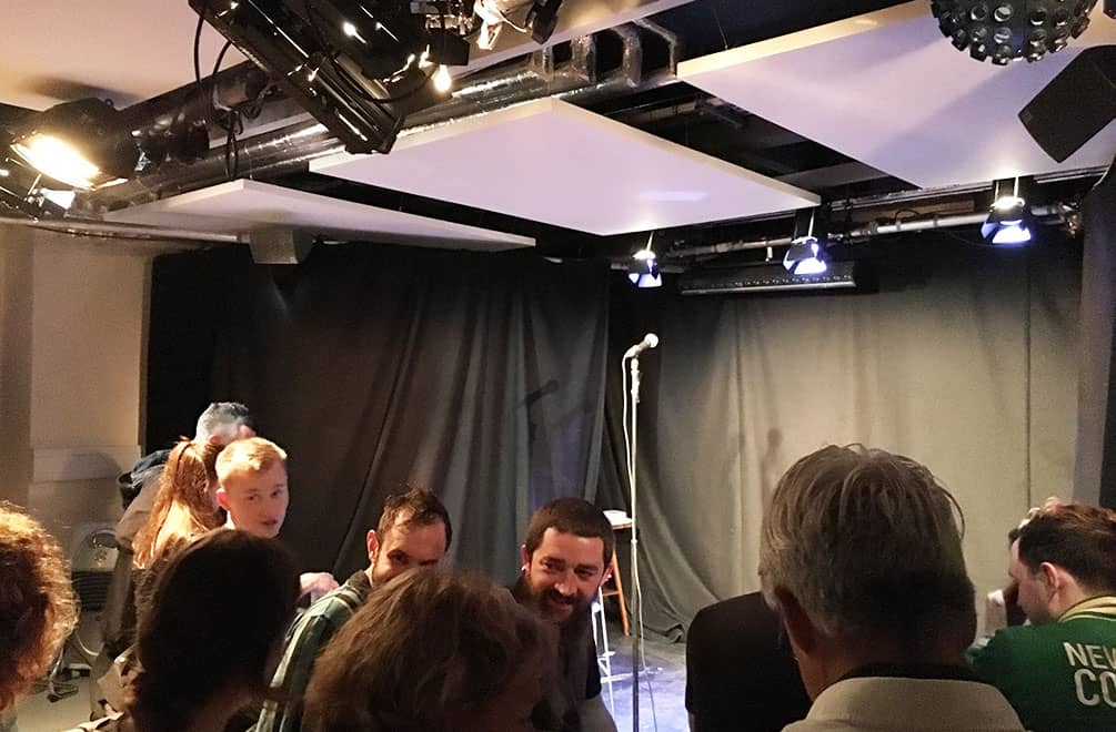 Audience at the Pleasance Cellar, Edinburgh Fringe Festival