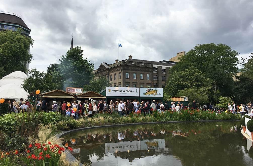 Rain clouds at Edinburgh Fringe Festival