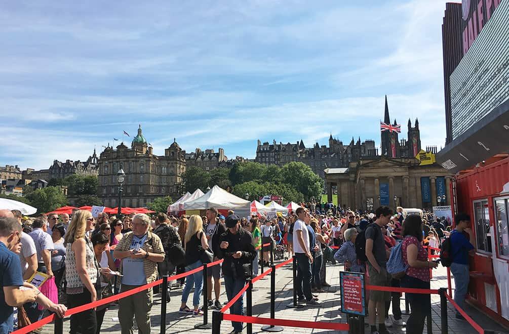 Virgin Half Price Hut at Edinburgh Fringe Festival