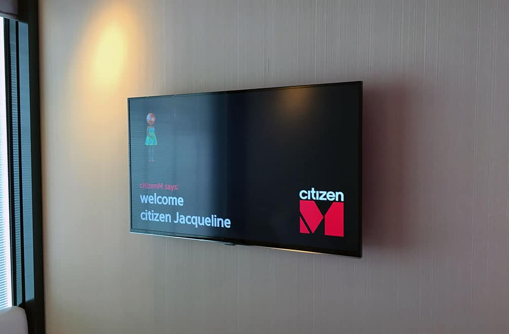 Personalized TV in the room at CitizenM Glasgow Hotel