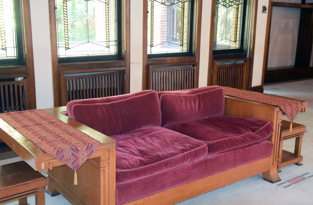 Frank Lloyd Wright's Robie House sofa