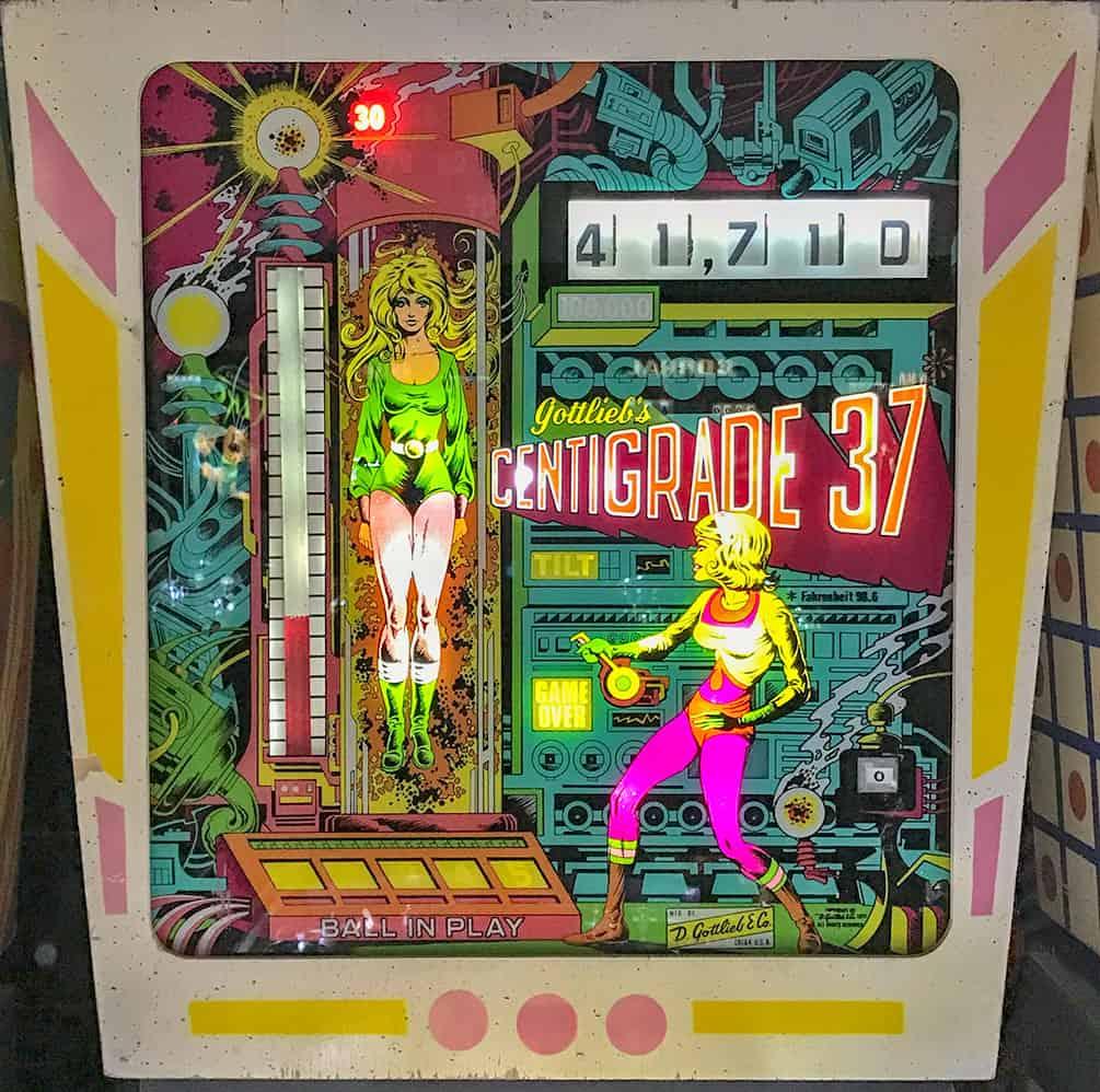 Centrigrade 37 pinball machine at the Pinball Hall of Fame in Las Vegas.