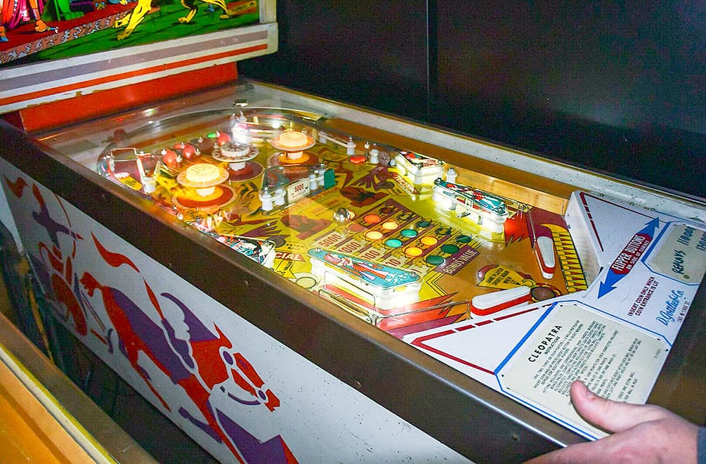 Cabinet of Cleopatra pinball game at Pinball Hall of Fame, Las Vegas