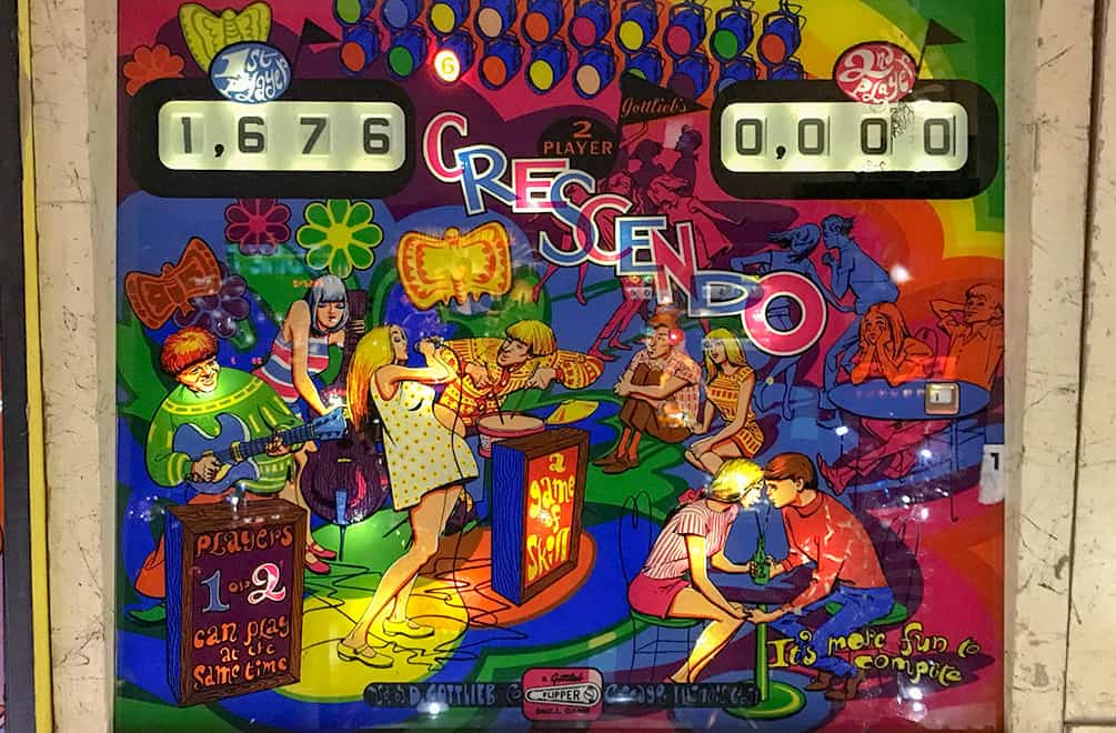 Crescendo pinball game at Pinball Hall of Fame, Las Vegas