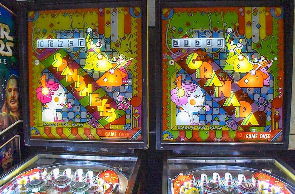 Granada and Spanish Eyes pinball machines at Pinball Hall of Fame, Las Vegas