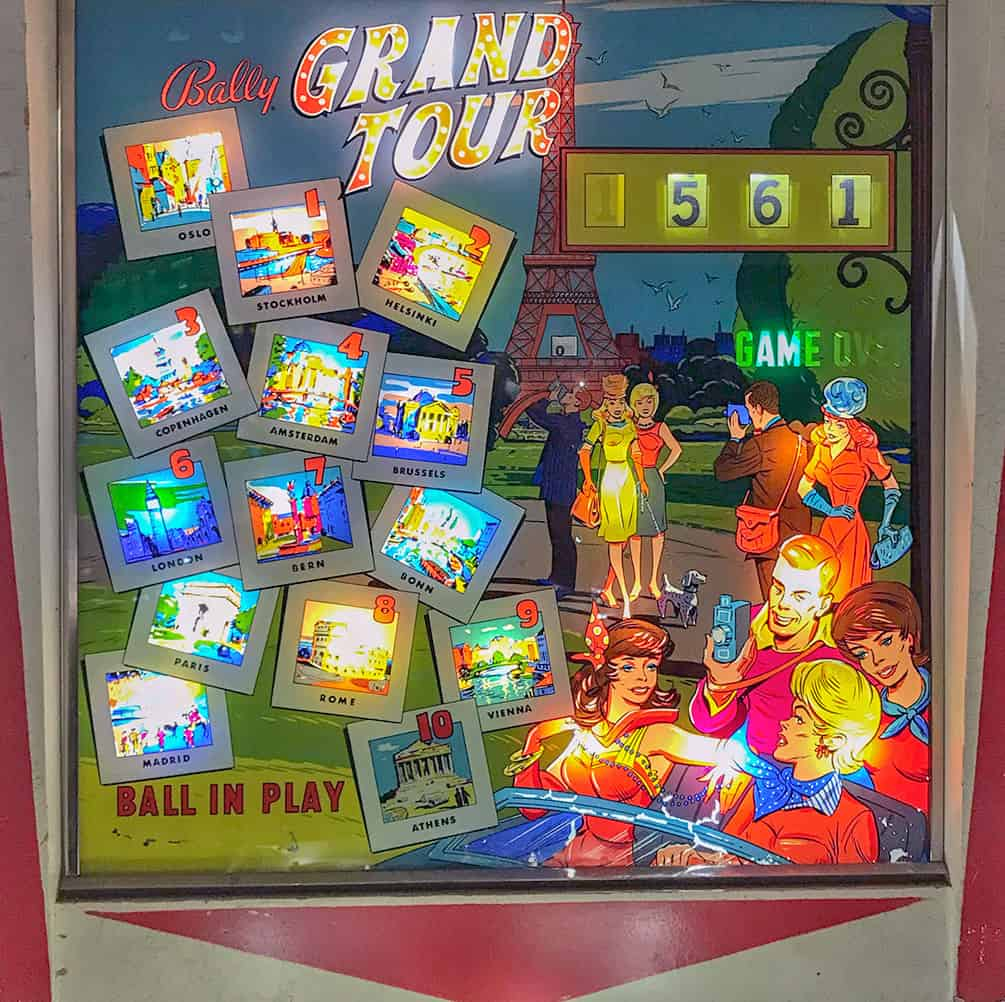 Grand Tour Pinball Machine at Pinball Hall of Fame, Las Vegas