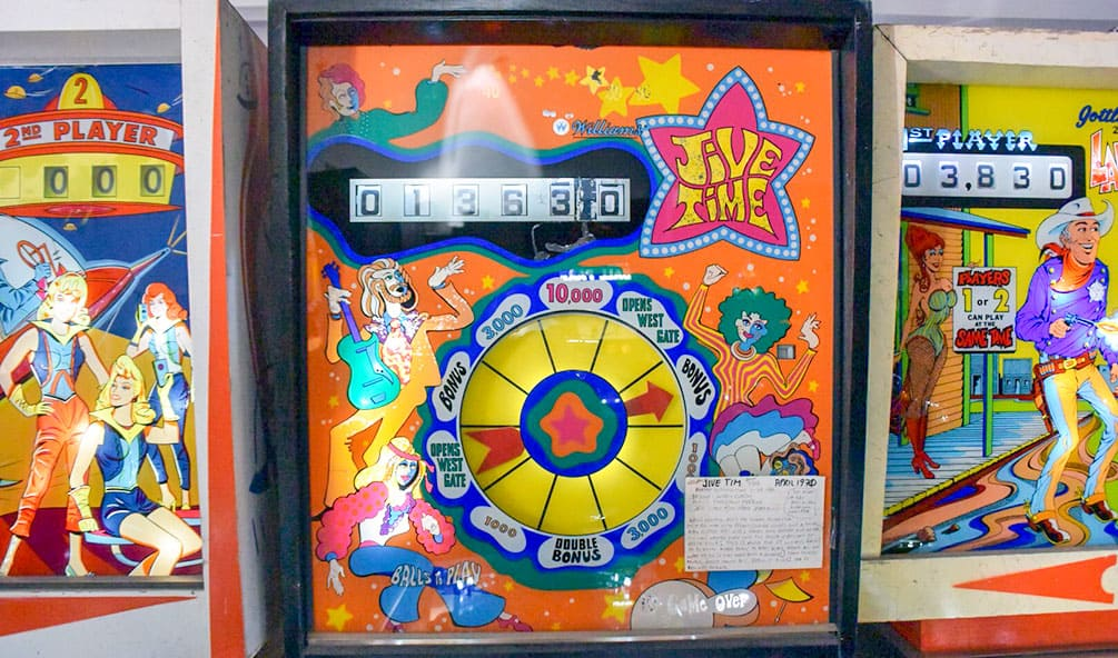 Jive Time pinball game at Pinball Hall of Fame, Las Vegas