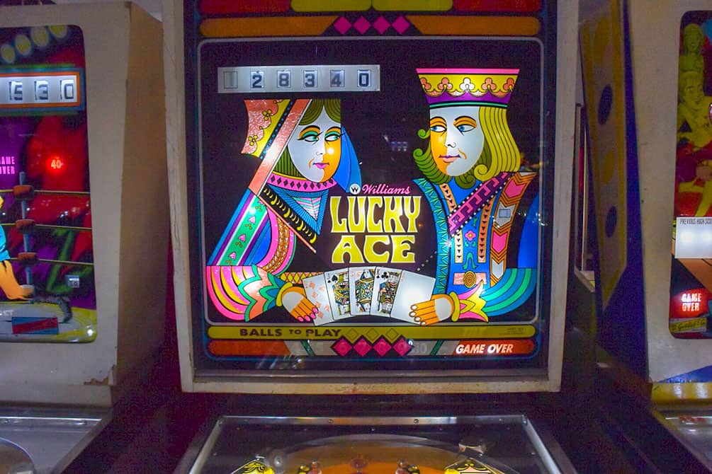Lucky Ace pinball machine at Pinball Hall of Fame