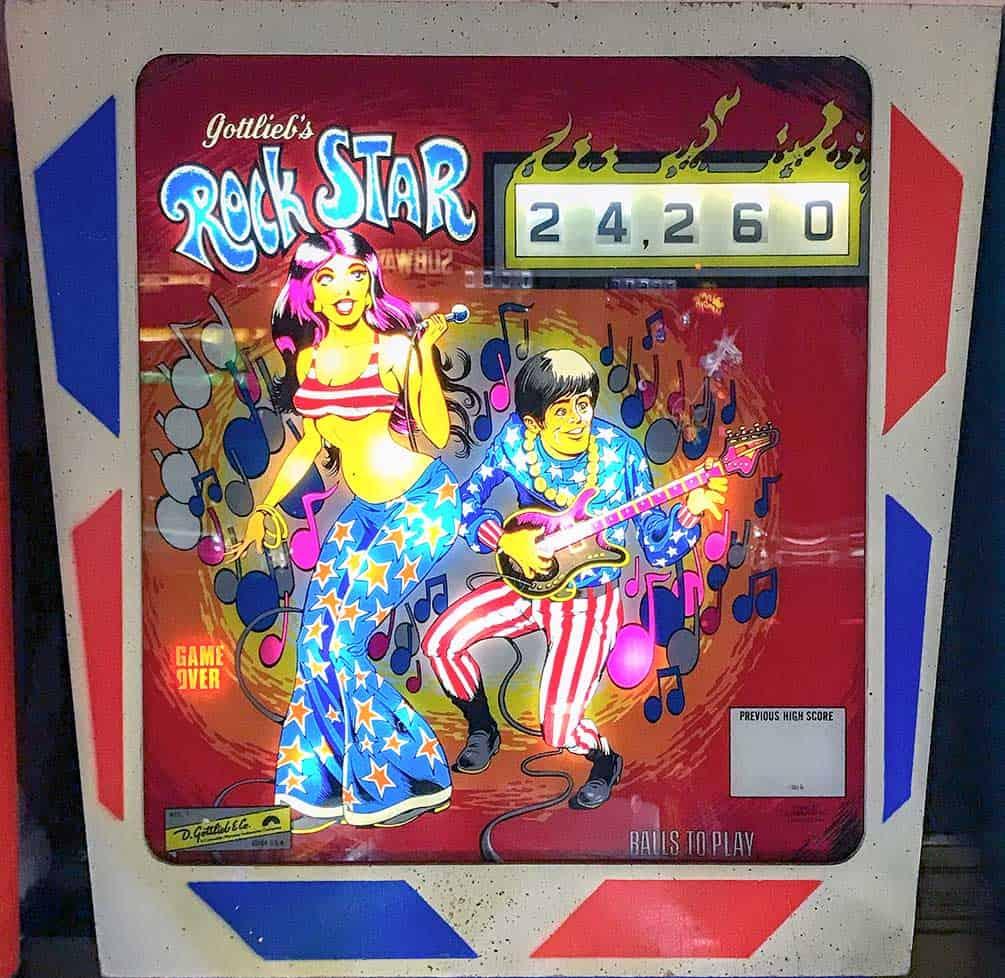 Rock Start Pinball Machine at Pinball Hall of Fame, Las Vegas