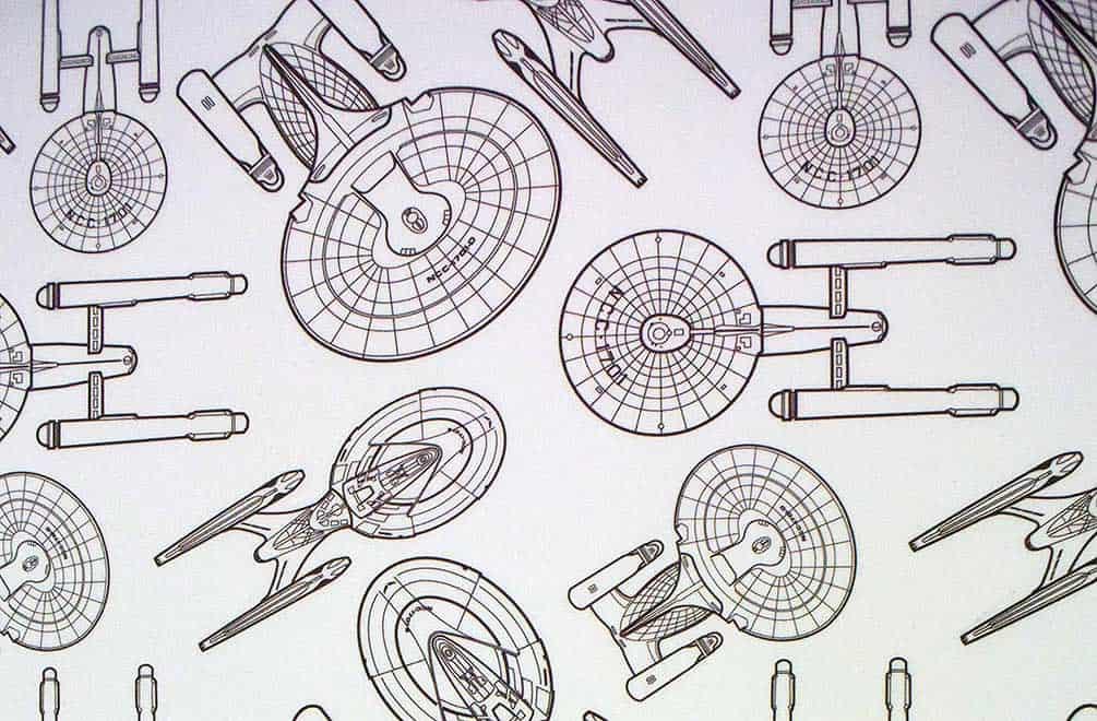Black and white Star Trek wallpaper