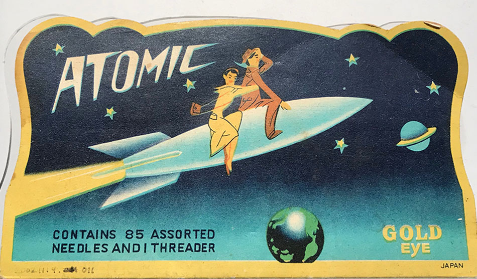 Atomic sewing kit from the Atomic Testing Museum